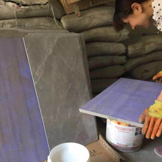居里夫人 瓷砖胶玻化砖耐水背涂胶 瓷砖粘结剂 瓷砖界面剂 防空鼓防脱落 强力粘结5KG每桶 1kg装(赠手套+毛刷)新旧款包装随机发货 晒单图