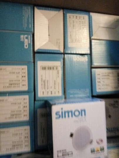 西蒙led筒灯3寸开孔7.0-8.0公分4W筒灯 筒灯孔灯 象牙白款+正白光 晒单图