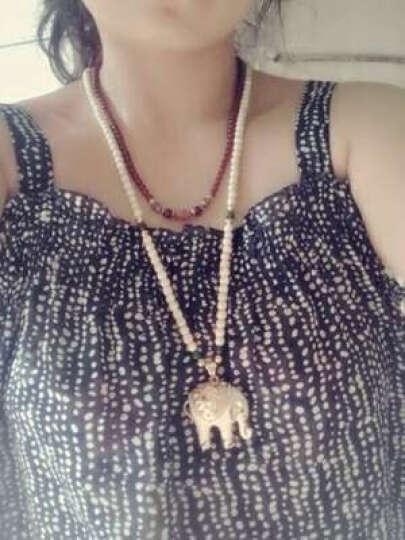 晶释 长款百搭毛衣链项链 女韩版大象吊坠女时尚项链 款6 石榴石珠链款 晒单图