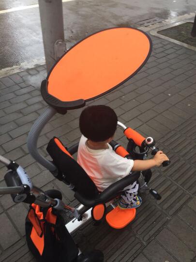 五祥铝合金儿童三轮车脚踏车宝宝三轮车玩具车自行车婴儿推车 双向铝合金橙色 晒单图