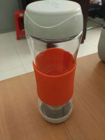 乐扣乐扣(lock&lock)运动水杯带茶隔 茶杯柠檬杯570ml HLC820NT 橙色 晒单图