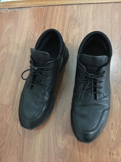 哈森男鞋 2017秋季专柜同款牛皮拼接时尚圆头运动户外休闲鞋ML75828 黑色 39 晒单图