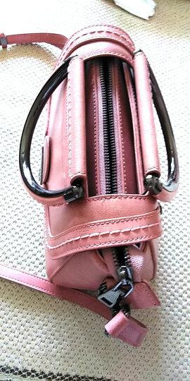 Viney2019新款真皮女包欧美单肩包女士包包春秋真皮手提斜挎包 粉色 晒单图