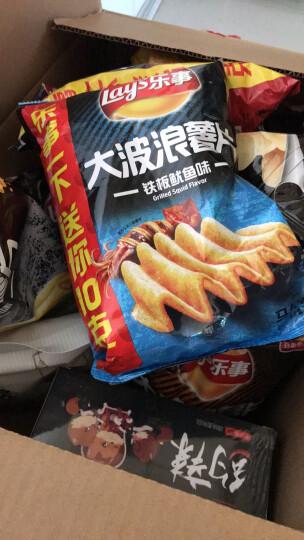 乐事(Lay's)零食 休闲食品 大波浪薯片 铁板鱿鱼味 70g 百事食品 晒单图