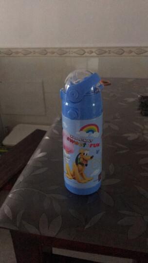 迪士尼(Disney) 儿童吸管杯 男女学生卡通宝宝便携保温水壶 52056米奇蓝350ML 晒单图