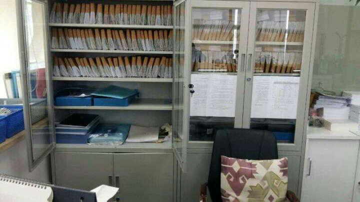 森拓 钢制文件柜铁皮柜橱资料柜 办公档案柜带锁大器械财务柜 加厚 晒单图