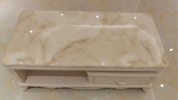 美好未来 欧式大理石电视机柜 法式电视柜茶几组合套装 大小户型客厅家具 电视柜+1.2米茶几 石材台面 晒单图