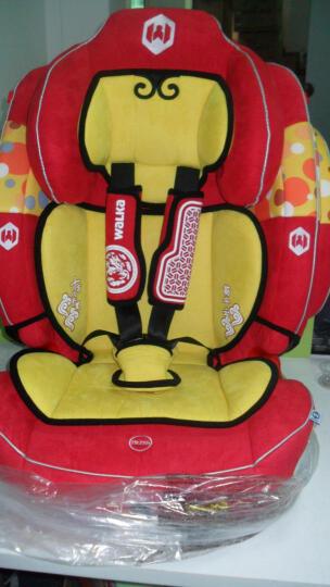 儿童汽车安全座椅 婴儿9个月-12岁 加强型侧翼防护 吉祥红 9个月-6岁 豪华版  背部五档可调 晒单图