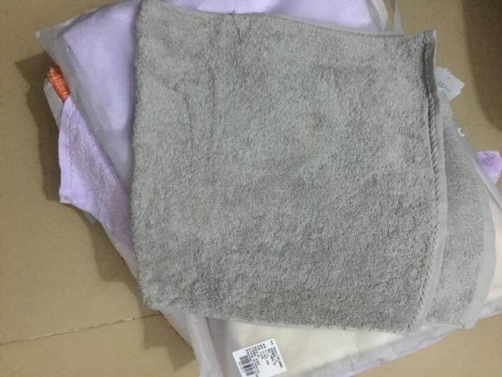 佳佰 毛巾 纯棉无捻色织格子 四件套 礼袋装 四条装 手巾洗脸面巾 (粉、蓝、黄、紫各一条) 晒单图