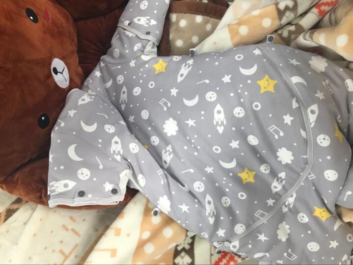 贝壳日记(SHELL DIARY)婴儿睡袋儿童分腿防踢被宝宝秋冬厚款棉新生儿 【双层】贝壳海洋蓝 80cm 适合80-95cm 晒单图