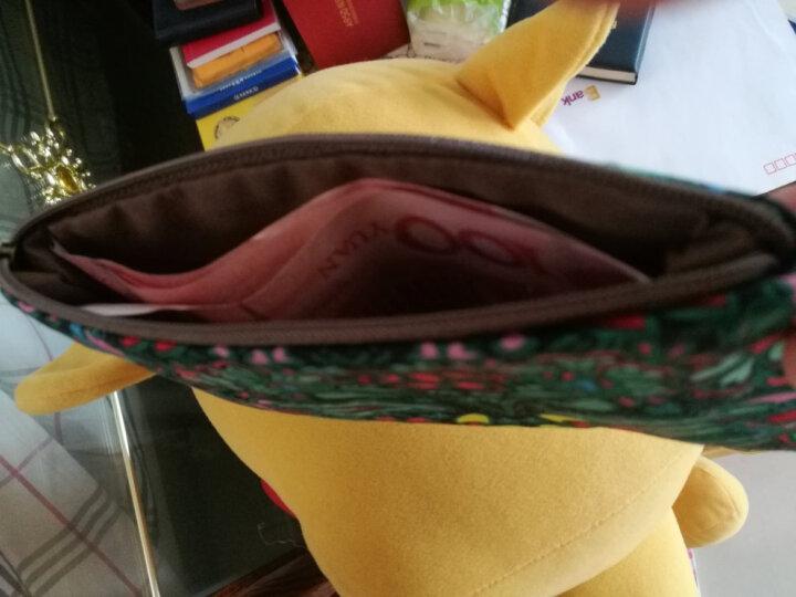 黑蝴蝶零钱包女卡包手机袋证件袋复古文艺小布包 灰夜 晒单图