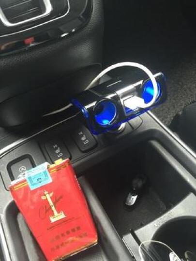 日本SEIWA车载充电器点烟器USB 车载电源点烟器一拖三 双USB经典蓝光-无线款F254 晒单图