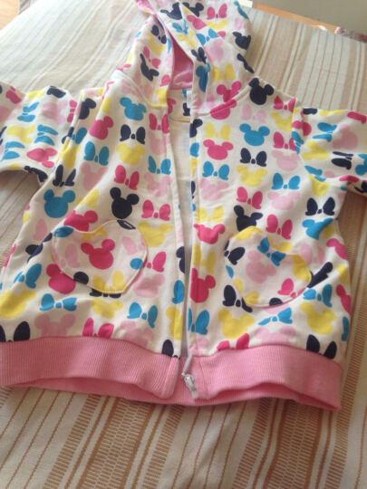 迪士尼宝宝 儿童春秋款外套卫衣 宝宝针织连帽上衣外套 藏青白条 80 晒单图