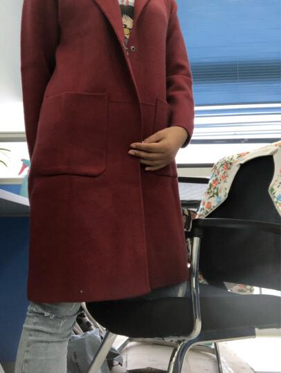 淳咪娜 针织衫女开衫2018秋冬新款中长款毛衣外套女宽松韩版大码女装胖mm毛呢外套加厚大衣热卖 军绿色 XL(建议118-155斤) 晒单图