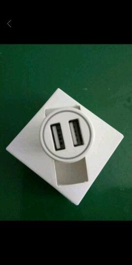 公牛(BULL)车载充电器 车充点烟器 GN-U112C白色5V/2.4A双USB一拖二 PC材质 晒单图