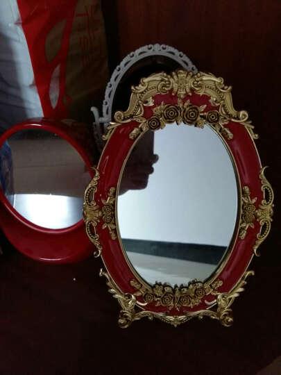 麦达令婚庆用品结婚镜子新娘化妆镜子红色上头镜 新人用品红镜子 椭圆款(大号) 晒单图