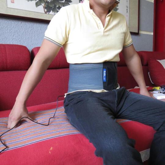 博适 护腰带弧度钢板透气艾灸电热男女老人 发热保暖护腰 腰间盘突出腰椎腰托肌肉劳损 钢板护腰+电热艾灸 XL  腰围107-125CM/3尺2-3尺7 晒单图