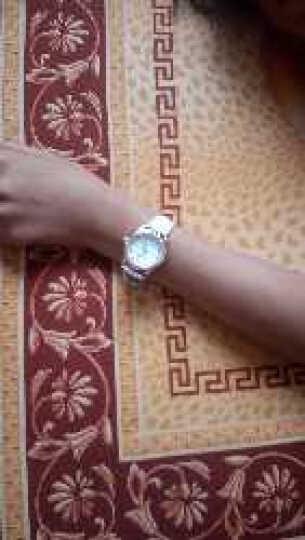 手表可爱时尚夜光手表皮带表防水女士手表女高中学生韩版简约潮流 水钻款—白色(送黑色表带) 晒单图