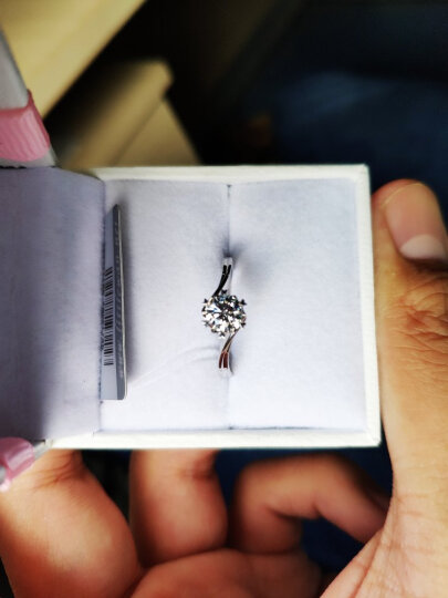 小宛钻石 钻戒GIA裸钻定制30分40分50分一克拉定制戒指K金求婚克拉钻石送戒托 GIA-40分-D色-VVS2-3EX 晒单图