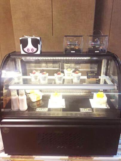慕蒙(VOMENT) 商用蛋糕柜 展示柜冷藏玻璃陈列柜 保温保鲜柜熟食柜 蛋糕冷藏柜 0.9米弧形台式后开门(黑色) 风冷无霜 晒单图