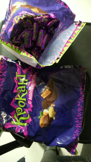 包邮俄罗斯KDV进口紫皮糖巧克力糖免邮扁桃仁糖士力架牛轧糖婚庆喜糖糖果酥进口紫皮糖巧拜 送礼 1000g约140颗左右 晒单图