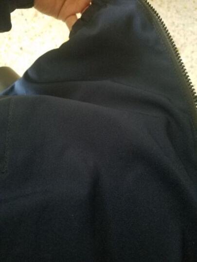 千哲琪 夹克男2018秋季新款韩版潮流青年男士外套薄款修身男装休闲连帽上衣加绒加厚冬装 蓝色常规 XL 晒单图