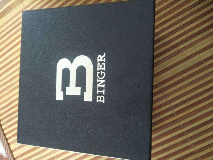 【限量秒杀】宾格BINGER手表男士男表石英表运动时尚三眼计时机械钢化夜光防水旋风S717 战神黑钢黑面银钉 晒单图