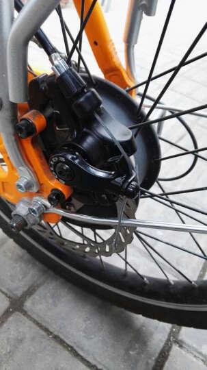 山地自行车碟刹器碟刹座公路折叠山地车碟刹盘 机械碟刹 线碟 刹车配件碟刹片160mmg3 旋式碟刹转换器一个(对孔48mm) 晒单图