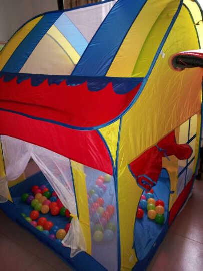 澳乐儿童帐篷安全无味 便携魔术大房子 公主玩具宝宝游戏屋 大房子+100海洋球 晒单图