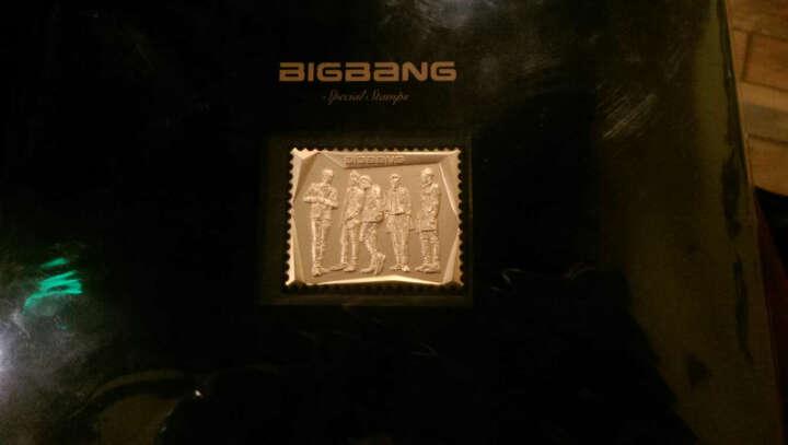 现货!BIGBANG STAMPS 镀金邮票+明信片一套  韩国原版 权志龙东永裴姜大声 晒单图