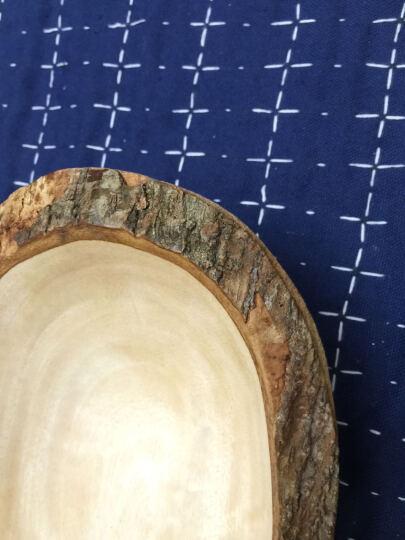 泰域 泰国芒果木双格托盘 木质长形创意托盘干果盘 泰国纯手工木雕 木质装饰品 东南亚果盘 晒单图