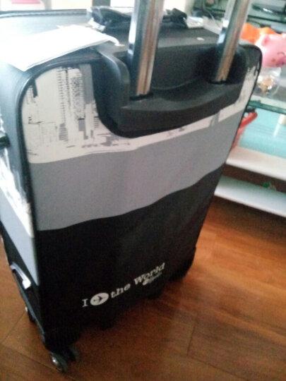 万向轮拉杆箱 男士旅行皮箱包26/24英寸手提行李箱女登机箱包袋 藏青(轮可拆卸) 24吋(推荐.50%顾客选择) 晒单图