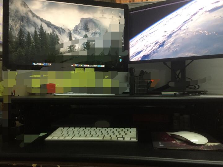 乐歌(Loctek)站立办公升降台式电脑桌 笔记本办公桌 可移动折叠升降家用升降台书桌 M1M黑 晒单图