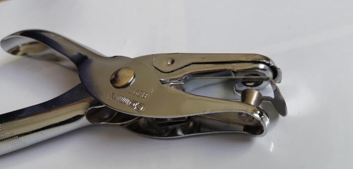 齐心(COMIX)φ6mm可打8页手握式全金属单孔打孔机/打孔器银色B2921 晒单图
