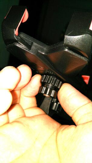 自行车手机支架山地车电动摩托车通用度旋转导航骑行支架装备配件 升级-车把款(黑色) 晒单图