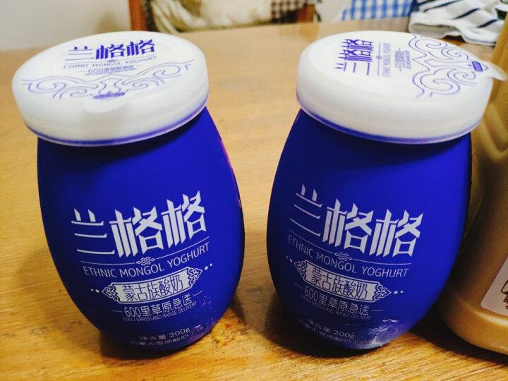 兰格格 凝固型酸奶 无添加陶瓷瓶 蒙古族酸奶酸牛奶  200g (2件起售) 晒单图