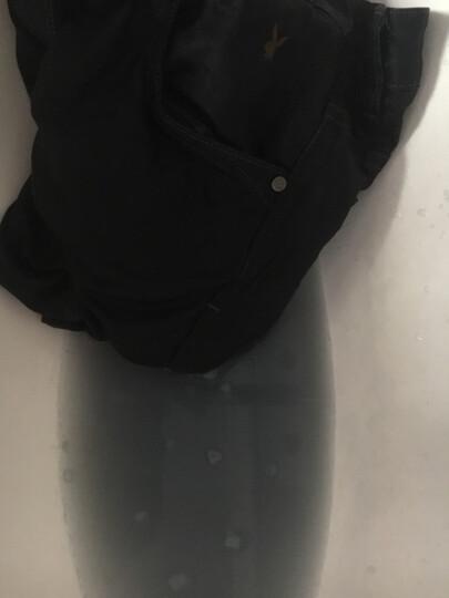 花花公子牛仔裤男薄款中裤七分裤男直筒弹力修身欧美风马裤沙滩男装裤子 9082蓝色 38码(腰围2尺9) 晒单图