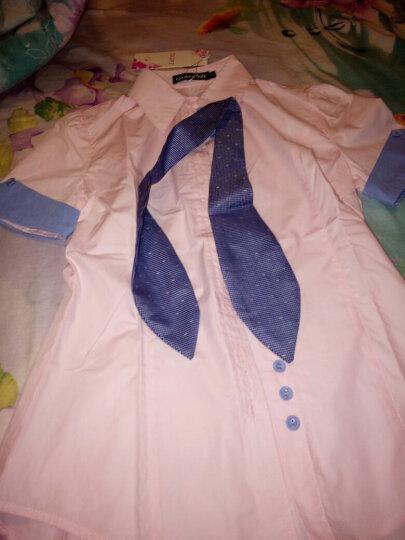 DGPZ2020年夏秋新品长袖衬衫女免烫正装白色显瘦面试工作服OL寸衣送领结免烫抗皱G1206 粉色长袖 2XL适合130斤左右 晒单图