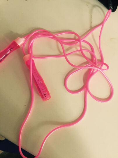 美狮龙儿童跳绳 小学生幼儿园娱乐考试可调节轴承跳绳成人糖果色跳绳健身训练减肥 活泼粉 晒单图