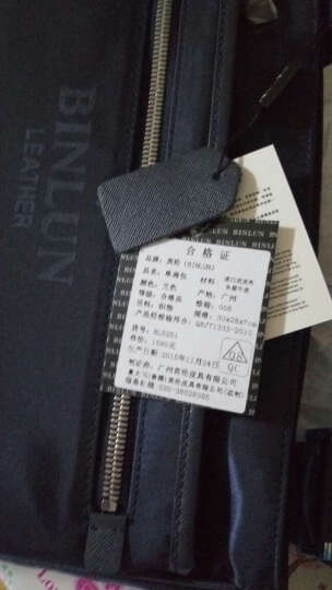 宾伦BINLUN 男包单肩包斜挎包男士休闲尼龙布包ipad包 BL0251 咖啡色 大号 晒单图