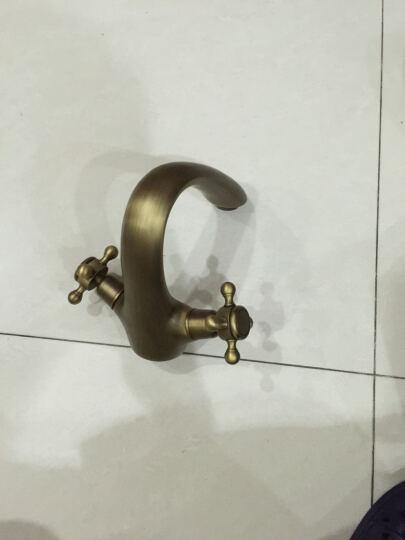 贝尔格兰 全铜仿古水龙头 复古古典欧式面盆龙头冷热 浴室柜龙头 晒单图