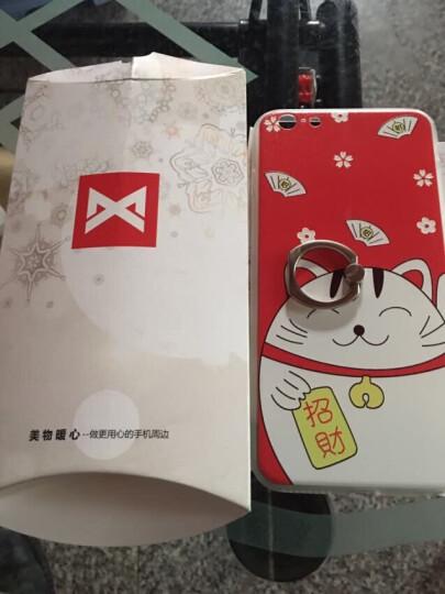 XIMU 苹果6s/6 plus手机壳iphone6s手机壳全包防摔手机保护套创意指环男女款 桃花招财猫-5.5英寸(用苹果6P/6sP) 晒单图