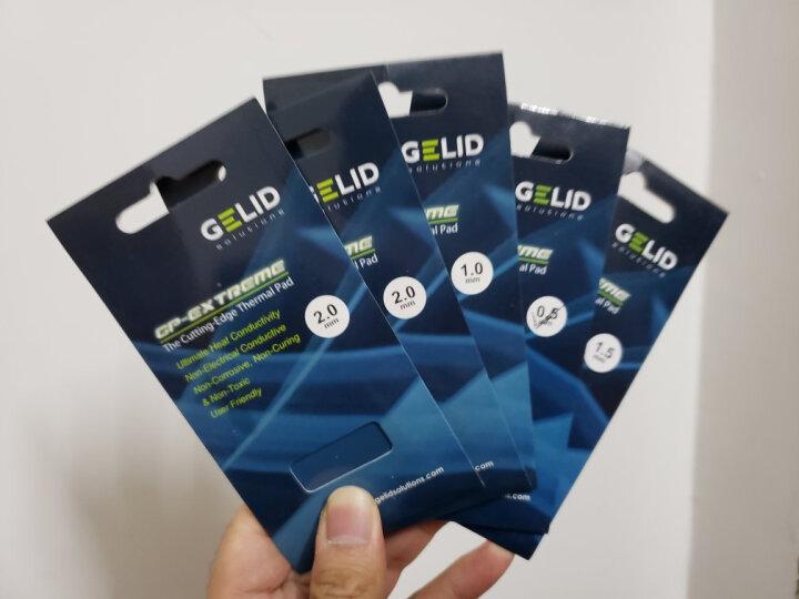 捷领GELID GELID 80*40*2MM 笔记本CPU 南北桥硅胶片硅胶垫导热系数12 晒单图