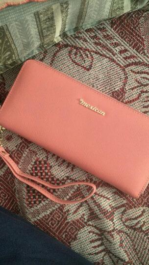 稻草人(MEXICAN)女士钱包拉链手拿包欧美时尚女式钱夹多卡位手包大容量MYH40166L-01粉色 晒单图