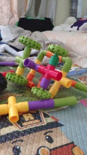 【送补充包】芙蓉天使弯管水管道积木套装七彩塑料拼插幼儿园立体拼插积木男女孩玩具 16件袋装 晒单图
