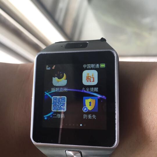 【送手机卡】引领美 儿童电话手表 W88D智能手表 定位手表学生手机触屏 可插卡 尊贵蓝W88D+微聊+定位拍照 晒单图