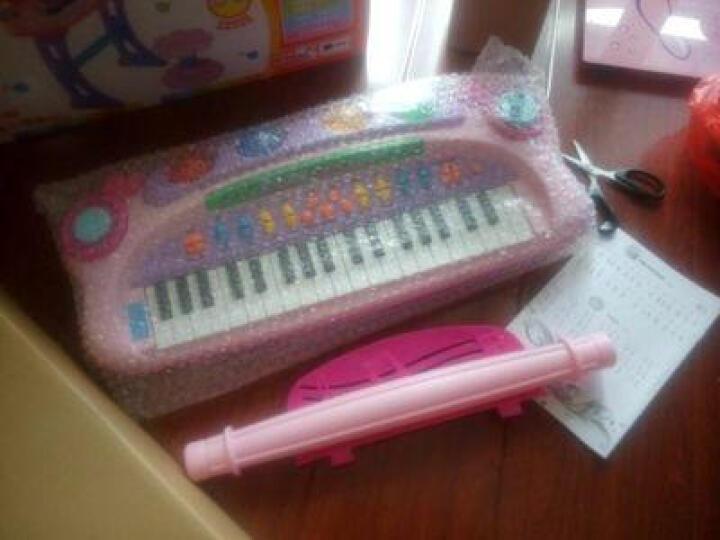 烨星(YEXING)儿童电子琴带麦克风玩具女孩玩具婴幼儿早教音乐小孩宝宝钢琴礼物 第八代彩盒蓝+电池 晒单图