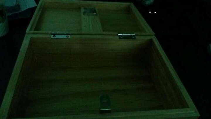 科海之星 带锁收纳盒储物盒实木桌面收纳箱小木箱杂物整理箱 28*20*10 晒单图