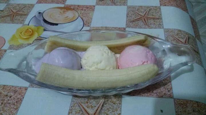 玻璃雪糕船 特色雪糕杯 香蕉船 木瓜船 船形沙拉碗利比长条甜品碗 晒单图