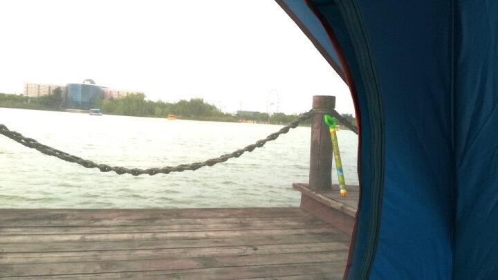 威迪瑞 全自动户外帐篷防雨双人野外沙滩帐篷免搭建3-4人帐篷套装 套餐十二(4人帐篷+防潮垫+充气枕+充气垫+睡袋) 晒单图